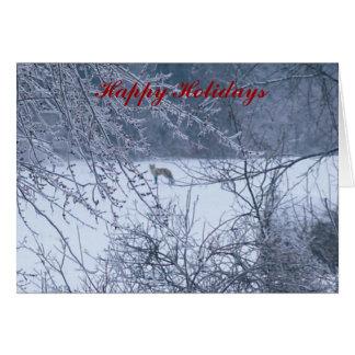 Happy Holidays Fox Card