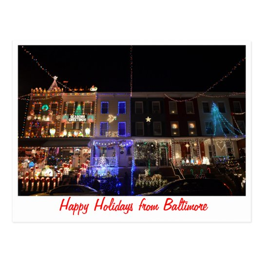 Happy Holidays from Baltimore Postcard