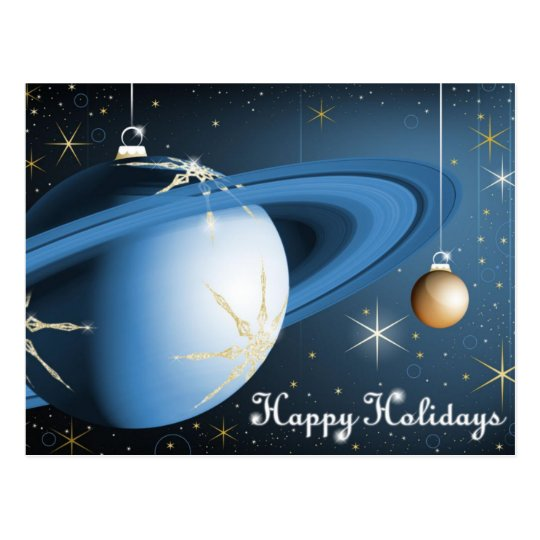 Happy Holidays From Cassini Postcard