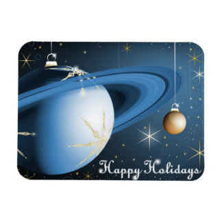 Happy Holidays From Cassini Rectangular Photo Magnet