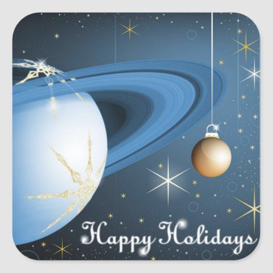 Happy Holidays From Cassini Square Sticker