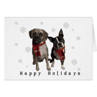 Happy Holidays from Charlie and Murphy Greeting Card
