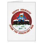 Happy Holidays From Genealogy Bug Greeting Card