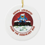 Happy Holidays From Genealogy Bug Christmas Ornament