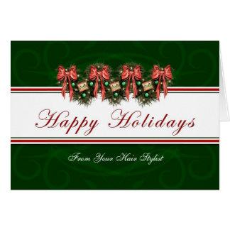 Happy Holidays - From Hair Stylist Card