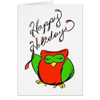 Happy Holidays from Happy Owl Greeting Card