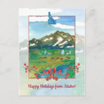 Happy Holidays from Idaho Ranch Cows Postcard