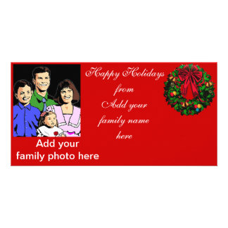 Happy Holidays,from our family_ Customized Photo Card