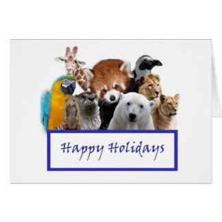 Happy Holidays from our Zoo! Greeting Card