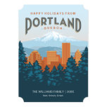 Happy Holidays from Portland 5x7 Paper Invitation Card