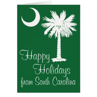 Happy Holidays from SC Green Palmetto Moon Card
