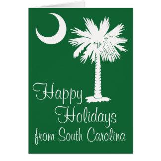 Happy Holidays from SC Green Palmetto Moon Card