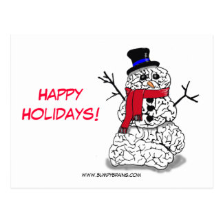 Happy Holidays from Snowbrain Postcard