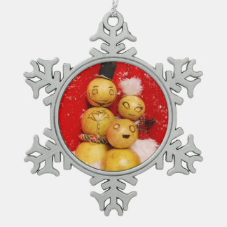 Happy Holidays from The Grapefruits Snowflake Pewter Christmas Ornament
