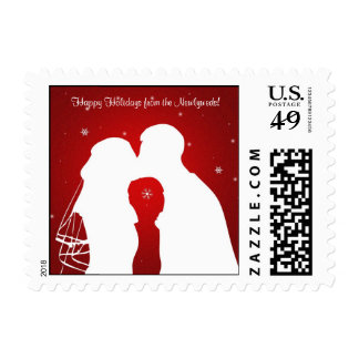 Happy Holidays from the Newlyweds! Stamp
