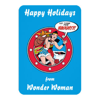 Happy Holidays From Wonder Woman Card