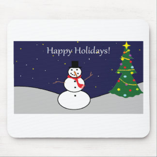 Happy Holidays Frosty Gear Mouse Pad