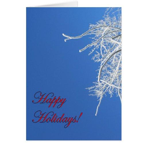 Happy Holidays Frosty Tree Card