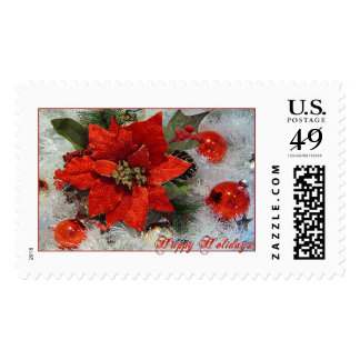 Happy Holidays-Full Color Stamps