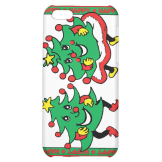 Happy Holidays Funny Dancing Christmas Trees iPhone 5C Covers