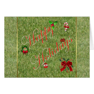Happy Holidays gardener lawn care landscape Greeting Card