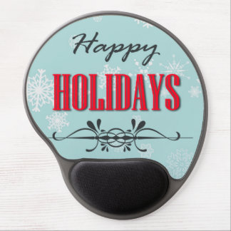 Happy Holidays Gel Mouse Mats