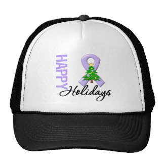 Happy Holidays General Cancer Awareness Trucker Hat