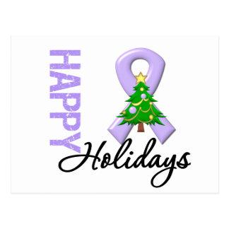 Happy Holidays General Cancer Awareness Postcard