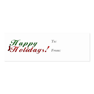 Happy Holidays Gift Tag Business Card