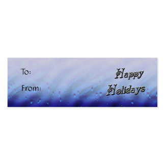 happy holidays gift tag Double-Sided mini business cards (Pack of 20)