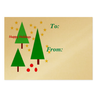 Happy Holidays gift tag Business Card Templates