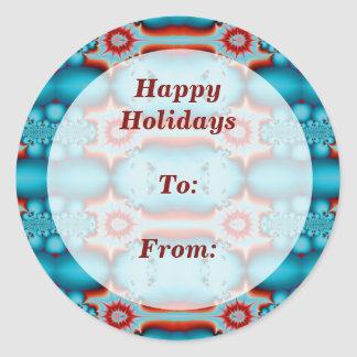 Happy Holidays gift tag Classic Round Sticker