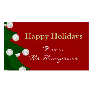 Happy Holidays Gift Tags Business Card