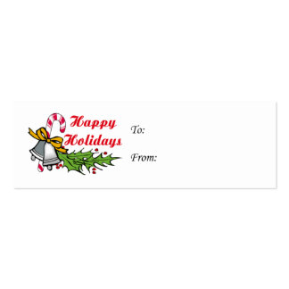 Happy Holidays Gift Tags Double-Sided Mini Business Cards (Pack Of 20)