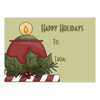 Happy Holidays Gift Tags Business Card Template