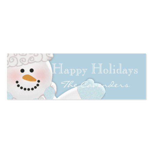 Happy Holidays Gift Tags Double Sided Mini Business Cards