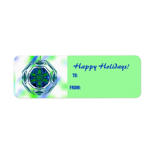 Happy Holidays Gift Tags Labels