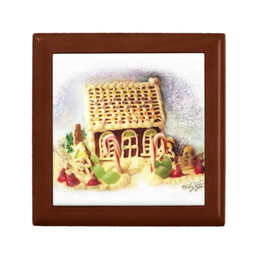 Happy Holidays Gingerbread House Gift Box | Zazzle