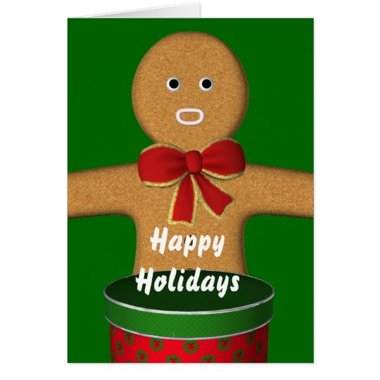 Happy Holidays Gingerbread man Card