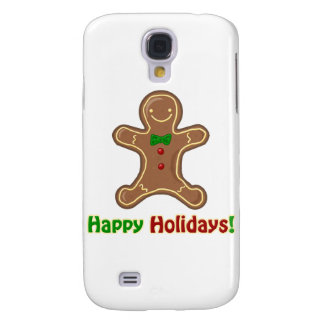Happy Holidays Gingerbread Man Samsung Galaxy S4 Cover