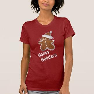 happy holidays gingerbread man shirt