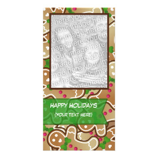 """Happy Holidays"" Gingerbread PhotoCard Photo Card"