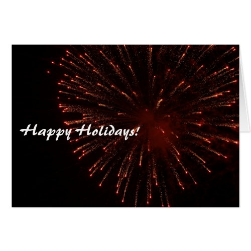 Happy Holidays Glitter Fireworks Card Sales 8240