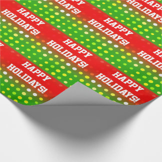 Happy Holidays! Glossy Wrapping Paper