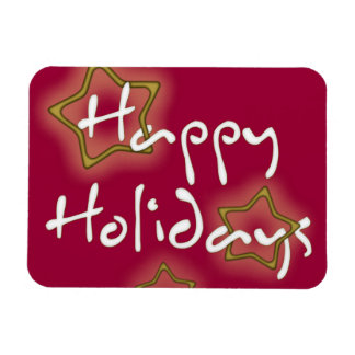 Happy Holidays Gold Stars Magnet
