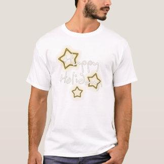 Happy Holidays Gold Stars T-Shirt