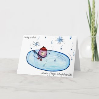 Happy Holidays Grape Skating Card 2009 card