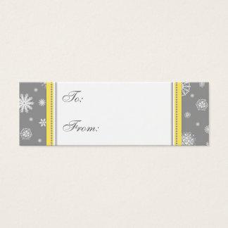 Happy Holidays Gray Snowflakes Gift Tags