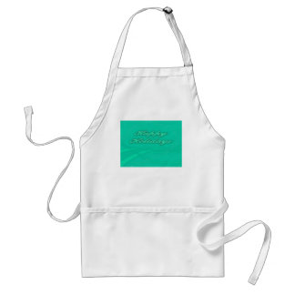 Happy Holidays Green on Green Holiday Design Adult Apron