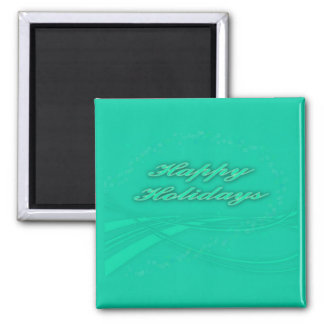Happy Holidays Green on Green Holiday Design Magnet
